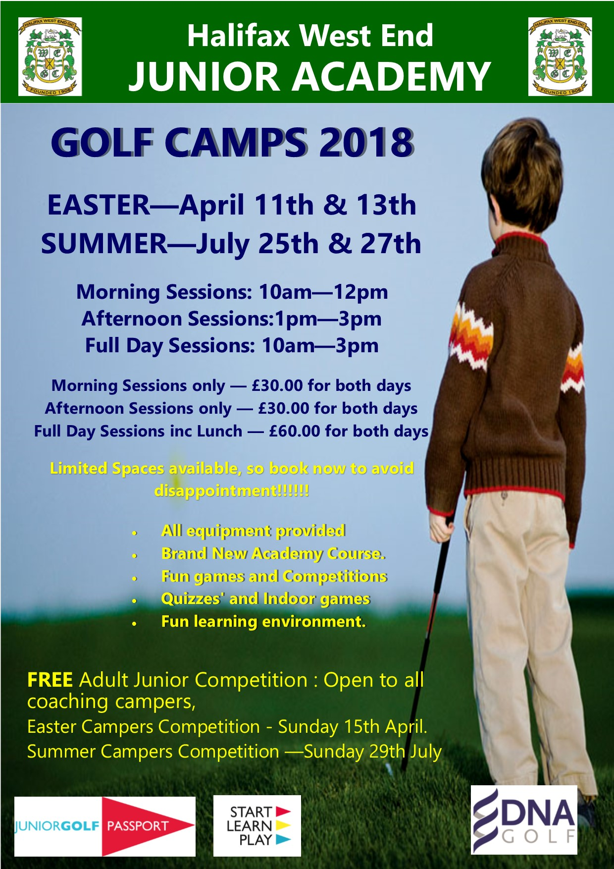 GOLF CAMPS 2018